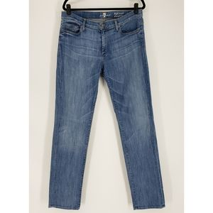7FAM High Waist Straight Leg Jeans - Size 32